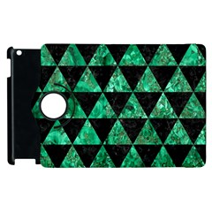 Triangle3 Black Marble & Green Marble Apple Ipad 2 Flip 360 Case by trendistuff