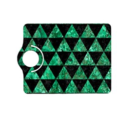 Triangle3 Black Marble & Green Marble Kindle Fire Hd (2013) Flip 360 Case by trendistuff