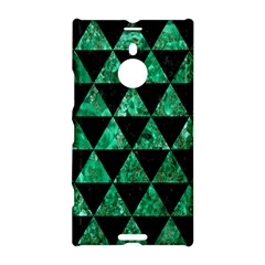 Triangle3 Black Marble & Green Marble Nokia Lumia 1520 Hardshell Case by trendistuff