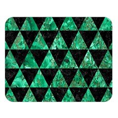 Triangle3 Black Marble & Green Marble Double Sided Flano Blanket (large) by trendistuff