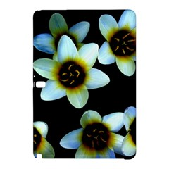 Light Blue Flowers On A Black Background Samsung Galaxy Tab Pro 10 1 Hardshell Case
