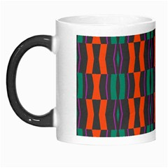 Green Orange Shapes Pattern Morph Mug by LalyLauraFLM