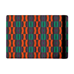 Green Orange Shapes Pattern 			apple Ipad Mini Flip Case by LalyLauraFLM