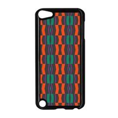 Green Orange Shapes Pattern apple Ipod Touch 5 Case (black) by LalyLauraFLM