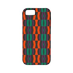 Green Orange Shapes Pattern 			apple Iphone 5 Classic Hardshell Case (pc+silicone) by LalyLauraFLM