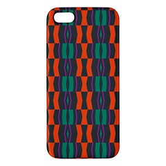 Green Orange Shapes Pattern iphone 5s Premium Hardshell Case by LalyLauraFLM
