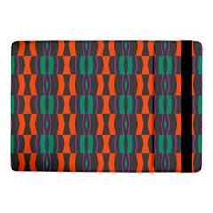Green orange shapes pattern Samsung Galaxy Tab Pro 10.1  Flip Case by LalyLauraFLM