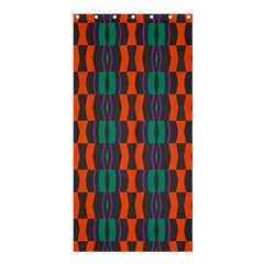 Green Orange Shapes Pattern 	shower Curtain 36  X 72  by LalyLauraFLM