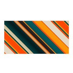 Diagonal Stripes In Retro Colors Satin Wrap by LalyLauraFLM