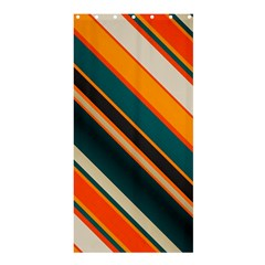 Diagonal Stripes In Retro Colors 	shower Curtain 36  X 72  by LalyLauraFLM