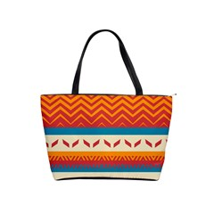Tribal Shapes  Classic Shoulder Handbag by LalyLauraFLM