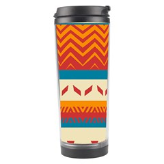 Tribal shapes  Travel Tumbler by LalyLauraFLM