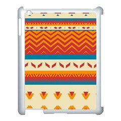Tribal Shapes  			apple Ipad 3/4 Case (white) by LalyLauraFLM