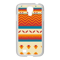 Tribal Shapes  			samsung Galaxy S4 I9500/ I9505 Case (white) by LalyLauraFLM