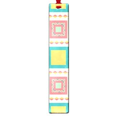 Pastel Squares Pattern 			large Book Mark by LalyLauraFLM