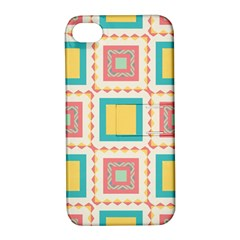 Pastel Squares Pattern 			apple Iphone 4/4s Hardshell Case With Stand by LalyLauraFLM