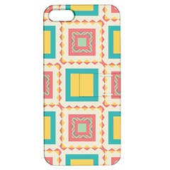 Pastel Squares Pattern apple Iphone 5 Hardshell Case With Stand by LalyLauraFLM