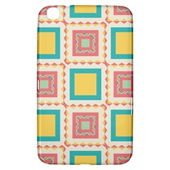 Pastel Squares Pattern 			samsung Galaxy Tab 3 (8 ) T3100 Hardshell Case by LalyLauraFLM