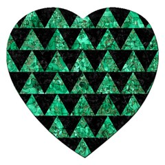 Triangle2 Black Marble & Green Marble Jigsaw Puzzle (heart) by trendistuff