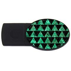 Triangle2 Black Marble & Green Marble Usb Flash Drive Oval (4 Gb)