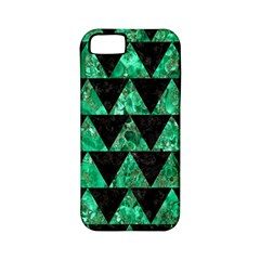 Triangle2 Black Marble & Green Marble Apple Iphone 5 Classic Hardshell Case (pc+silicone) by trendistuff