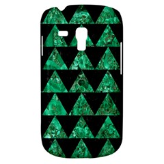 Triangle2 Black Marble & Green Marble Samsung Galaxy S3 Mini I8190 Hardshell Case by trendistuff