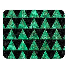 Triangle2 Black Marble & Green Marble Double Sided Flano Blanket (large) by trendistuff