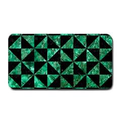 Triangle1 Black Marble & Green Marble Medium Bar Mat by trendistuff