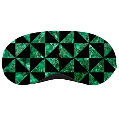 Triangle1 Black Marble & Green Marble Sleeping Mask by trendistuff
