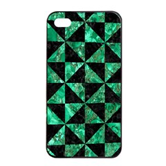 Triangle1 Black Marble & Green Marble Apple Iphone 4/4s Seamless Case (black) by trendistuff
