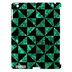 Triangle1 Black Marble & Green Marble Apple Ipad 3/4 Hardshell Case (compatible With Smart Cover) by trendistuff