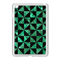 Triangle1 Black Marble & Green Marble Apple Ipad Mini Case (white) by trendistuff