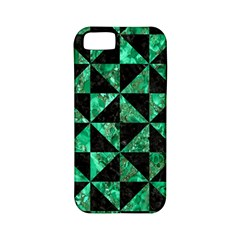 Triangle1 Black Marble & Green Marble Apple Iphone 5 Classic Hardshell Case (pc+silicone) by trendistuff