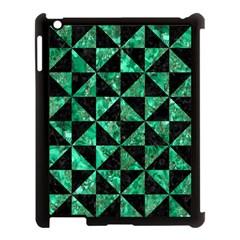 Triangle1 Black Marble & Green Marble Apple Ipad 3/4 Case (black) by trendistuff