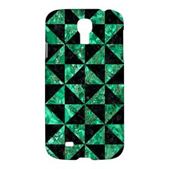 Triangle1 Black Marble & Green Marble Samsung Galaxy S4 I9500/i9505 Hardshell Case by trendistuff