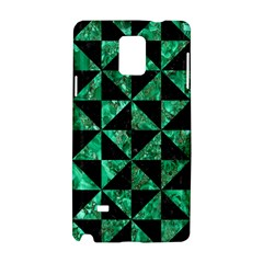 Triangle1 Black Marble & Green Marble Samsung Galaxy Note 4 Hardshell Case by trendistuff