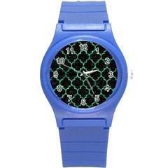 TIL1 BK-GR MARBLE (R) Round Plastic Sport Watch (S) by trendistuff
