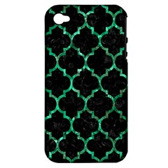 Tile1 Black Marble & Green Marble (r) Apple Iphone 4/4s Hardshell Case (pc+silicone) by trendistuff