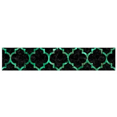 Tile1 Black Marble & Green Marble (r) Flano Scarf (small) by trendistuff