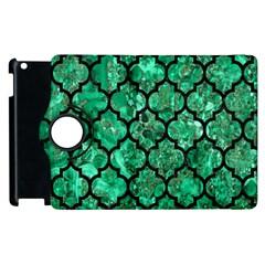 Tile1 Black Marble & Green Marble Apple Ipad 2 Flip 360 Case by trendistuff