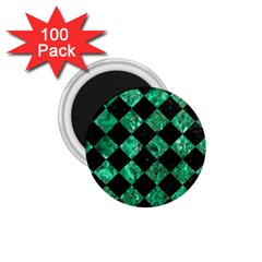 Square2 Black Marble & Green Marble 1 75  Magnet (100 Pack)  by trendistuff