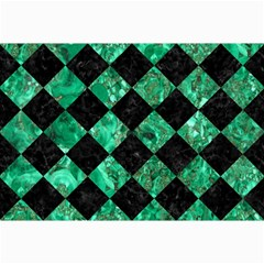 Square2 Black Marble & Green Marble Collage 12  X 18  by trendistuff