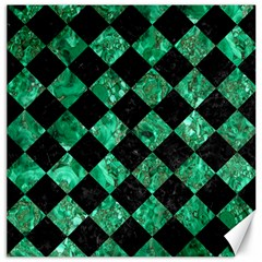 Square2 Black Marble & Green Marble Canvas 12  X 12  by trendistuff