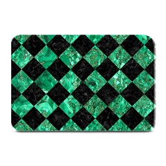 Square2 Black Marble & Green Marble Plate Mat by trendistuff