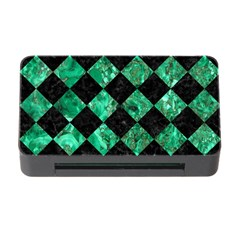 Square2 Black Marble & Green Marble Memory Card Reader With Cf by trendistuff