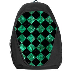 Square2 Black Marble & Green Marble Backpack Bag by trendistuff