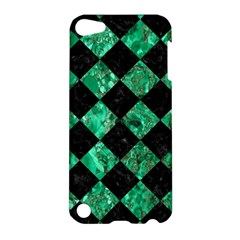 Square2 Black Marble & Green Marble Apple Ipod Touch 5 Hardshell Case by trendistuff