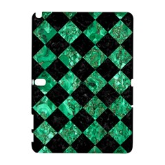 Square2 Black Marble & Green Marble Samsung Galaxy Note 10 1 (p600) Hardshell Case by trendistuff