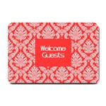 Salmon Damask Small Doormat  24 x16 Door Mat - 1