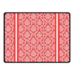 Salmon Damask Double Sided Fleece Blanket (small)  by SalonOfArtDesigns